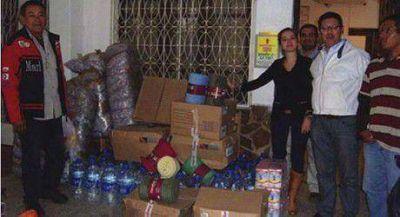 La Defensor�a del Pueblo hizo entrega de donaciones para inundados