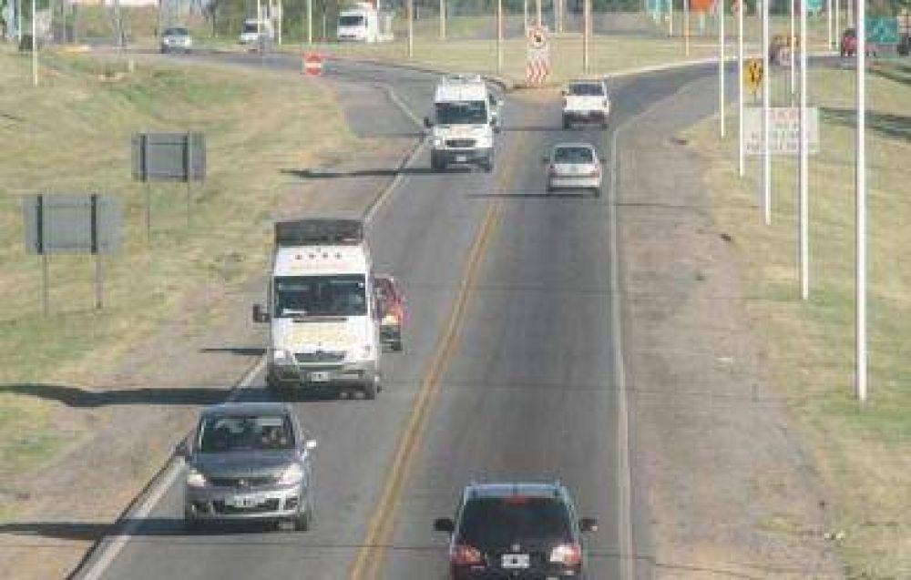 Proponen instalar semáforos y sendas peatonales en el tramo urbano de la Ruta 226