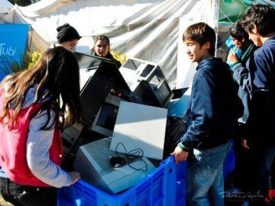 Prueba superada: recolectaron más de 400 kilos de basura electrónica