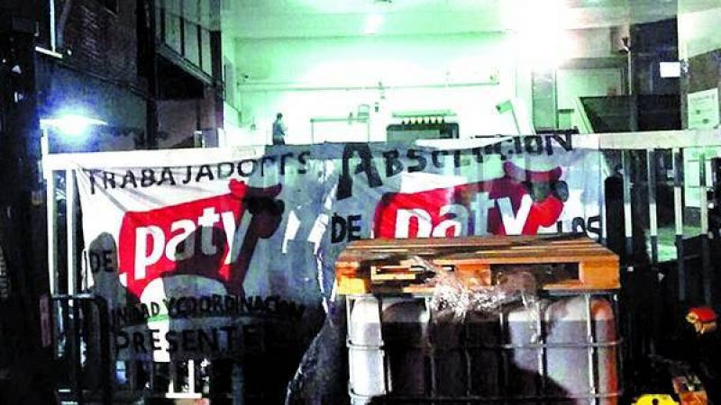 Paty cerr� la planta de Mart�nez y los obreros ocuparon el predio
