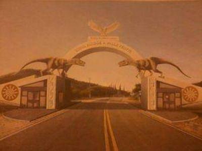 Diseñan un portal de acceso con dinosaurios