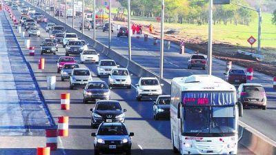 Prometen para julio el tercer carril en la autopista a La Plata