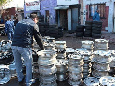 No hay con qué darle al mercado ilegal de ruedas en Mendoza