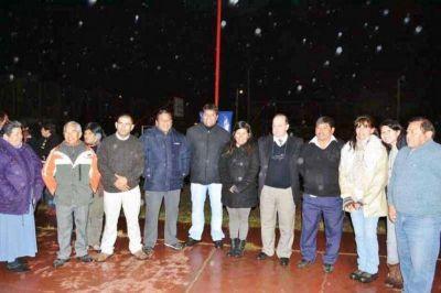 Inauguraron tendido eléctrico en Polideportivo