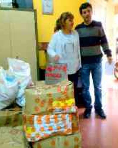 Emiliano entregó medicamentos al Hospital Miguel Sussini