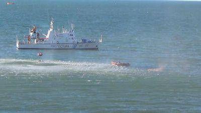 Un simulacro de rescate en el mar
