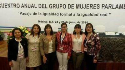 La diputada Aida Ruiz participó en México, de un encuentro entre mujeres parlamentarias