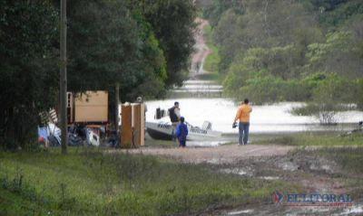 En Santo Tom� los evacuados ya son m�s de 460 y limitan el tr�nsito por la Ruta 14