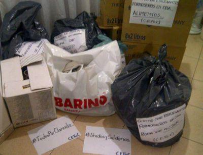Estudiantes Formoseños en Córdoba reciben donaciones para los afectados por la inundaciones