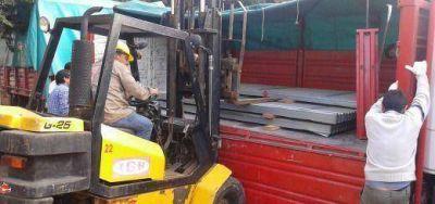 Nación trajo ayuda para los evacuados por las inundaciones