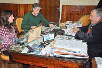 Brasca recibió a la nueva jefa distrital