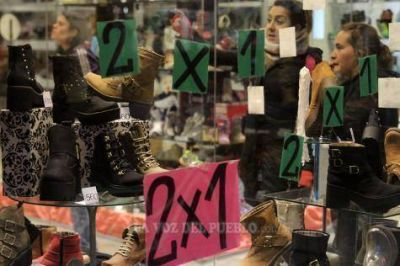 Caída de un 16% de la actividad comercial