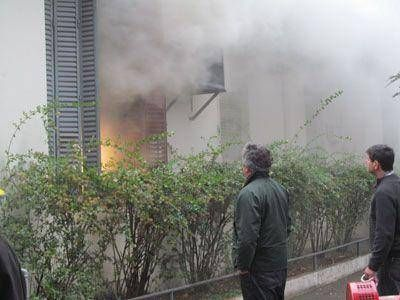 En el Hospital Municipal, el humo complicó a todos