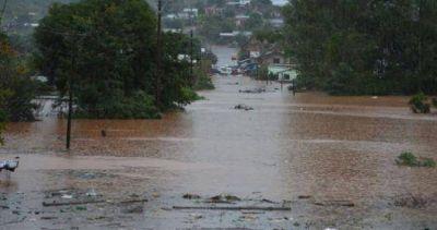 Con el pico de la creciente en sus costas Paso de los Libres ya tiene más de 140 familias evacuadas