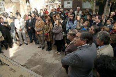 Corpacci, Mera y Jalil recordaron juntos la figura de Vicente Saadi