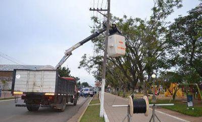 Se instala fibra óptica para cámaras de seguridad en Saladas