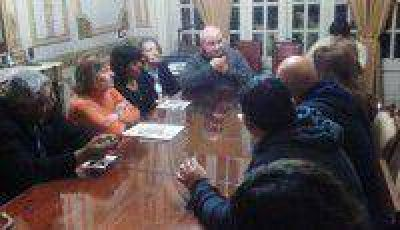 El Frente Estatal se reunió con el Obispo y la Pastoral Social