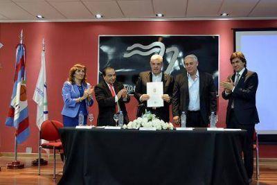 Fabián Ríos y Julián Domínguez dejaron oficialmente constituido el Observatorio Cuestión Malvinas del Litoral