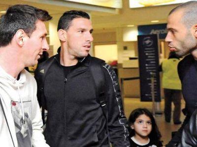 Messi, Maxi y Mascherano bajaron a tierra