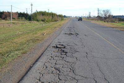 Preocupante estado de la ruta 31 entre la 45 y Fortín Mercedes