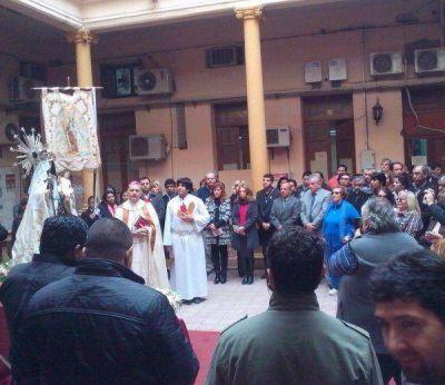 La Virgen del Carmen visitó el Palacio Municipal