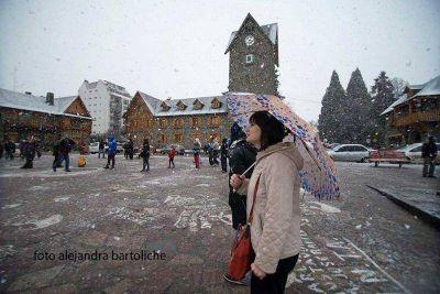 Nevada en Bariloche: alegría y frío según el lugar