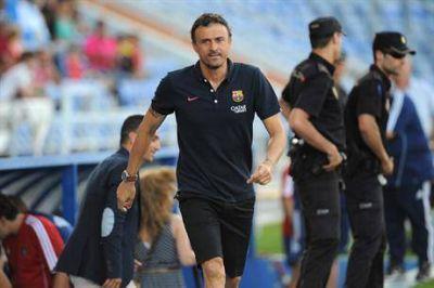 Barcelona arranc� la era Luis Enrique con un triunfo ajustado