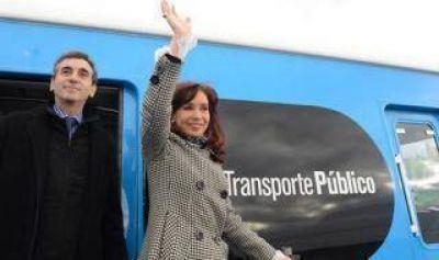 Cristina y Randazzo ponen en marcha siete trenes nuevos del Ferrocarril Sarmiento