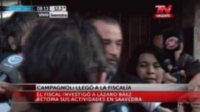Campagnoli volvi� a la fiscal�a de Saavedra y prometi� que investigar�