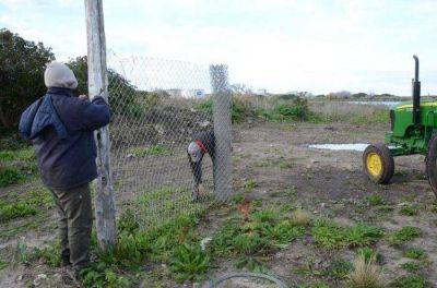 Comenzaron a colocar el alambrado perimetral en la Reserva del Puerto