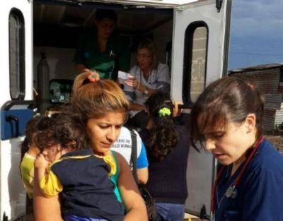 Valoran el interés de las familias evacuadas durante las tareas de asistencia sanitaria