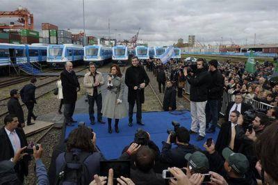 Cristina presentó los nuevos trenes para el Sarmiento
