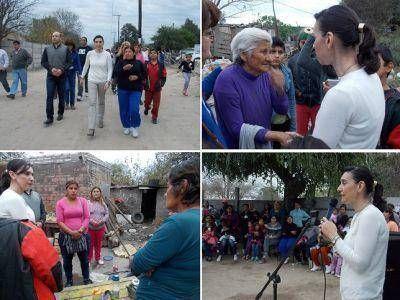 La Banda: Mariela Nassif recorrió diferentes barrios se reunió con vecinos