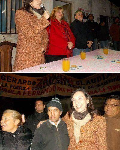 Vecinos de La Banda recibieron a los candidatos del Frente Cívico