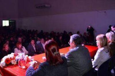 Capitanich recorriendo obras con Darío Bacileff Ivanoff y Antonio Rodas
