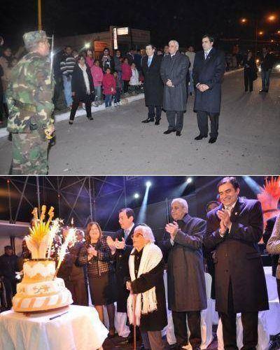 El Vicegobernador Neder y el Senador Zamora presidieron los festejos del 124º Aniversario de la ciudad de Fernández