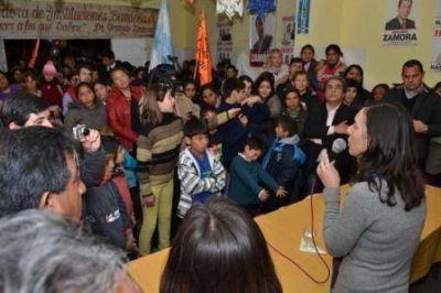 Contundente respaldo a la fórmula Nassif-Adamo en el barrio El Cruce