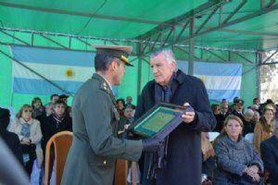 Gioja particip� de la celebraci�n del aniversario de Gendarmer�a Nacional
