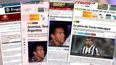 Medios de todo el mundo hablan del secuestro al padre de Tevez