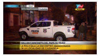 La Policía encontró la camioneta del papá de Tevez en Ciudadela