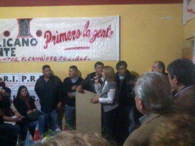 Anita Corradi lanz� su candidatura a la Intendencia de La Banda