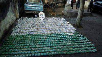 En control vehicular secuestraron 289 kilos de coca