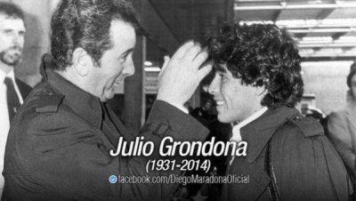 Diego Maradona brindó su pésame a la familia de Julio Grondona