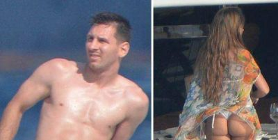 El descuido de la mujer de Messi durante las vacaciones
