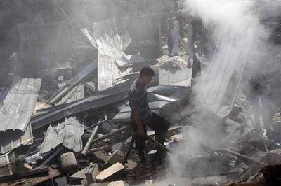 Ba�o de sangre en el sur de Gaza: murieron m�s de 120 palestinos