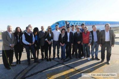 Aerolíneas Argentinas inauguró el corredor Córdoba-Rosario-Iguazú