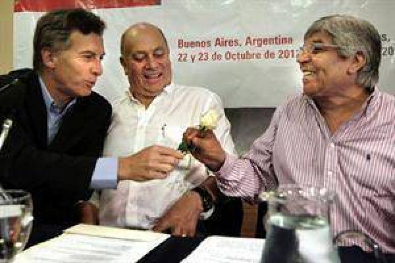 Moyano se acerca a Macri con vistas a 2015 y ya tienen proyectos en común