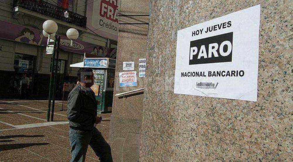Bancarios de San Luis se acoplaron al paro nacional este jueves