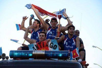Espectacular recibimiento para los flamantes campeones
