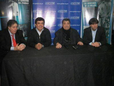 Espinoza, Bossio y Collia junto a Curto en el PJ de Tres de Febrero